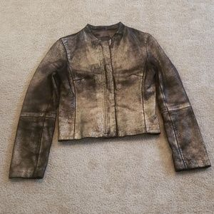 BCBG MAXAZRIA Ombre Leather Jacket
